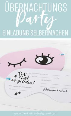 24 Seitiges E Book Zum Ausdrucken, Basteln, Dekorieren Und Einladen Zu  Einer Übernachtungsparty. Über 50 Unterschiedliche Vorlagen Für Insgesamt  10 ...