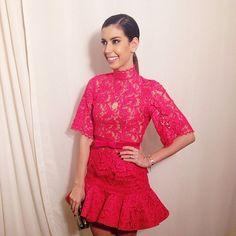 De hoje! Vestindo @marthamedeirosmoda e jóias @carlaamorim_ ✨ #marthamedeiros #renda #pink
