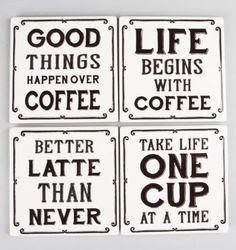 Coffee Sayings Coasters