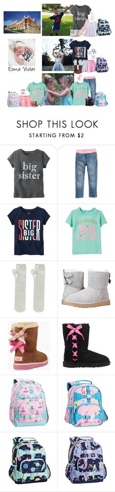 """Wednesday 2-13-18 School & Meeting New Sister"" by my-creative-mess ❤ liked on Polyvore featuring Carter's, H&M, Gymboree, UGG and Accessorize"