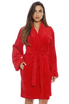 58cc9ffae4 Just Love 6312-Red-3X Kimono Robe Bath Robes for Women Lounge Outfit