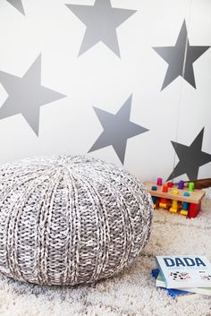 Large Silver Star Wallpaper in Nursery - found in the Project Nursery Shop.