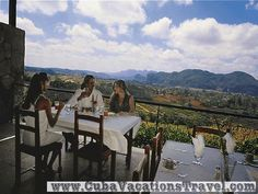 La Ermita, would not you like to eat with this view, Hotels and Villages. Pinar del Rio