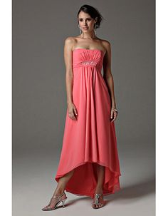 Sexy Custom Asymmetric High-Low Chiffon Bridesmaid/ Prom Dresses