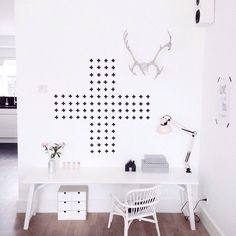 Leuk en simpel idee voor decoratie ## zwart wit
