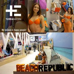 Find your sunny-season-way to the #BeachRepublic! We believe in #happy people! (Hall A3, Booth 114) #ispo #ispo2015 #TerraNation
