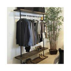 IRD - Triple Shelf Clothing Rack - Industrial Furniture - Pipe Garment Rack - Clothes Rack - Retail Display