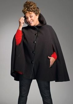cape stylish winter capes on pinterest capes ponchos and poncho sweater. Black Bedroom Furniture Sets. Home Design Ideas