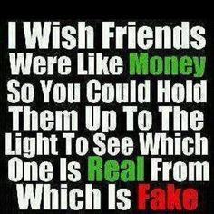 Real friends from fake friends