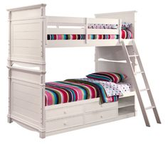 Lea Elite Hannah 147 Full over Full Bunk Bed with Storage