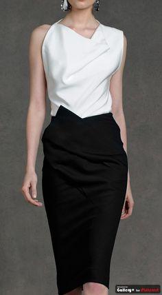 Donna Karan Resort Collection 2013, black and white dress