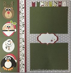 Holiday Blog - Christmas Borders, 12X12 pages Fast 2 Fab pages, punch art and more made with with Creative Memories Products www.creativememories.com/user/CandaceBouldin