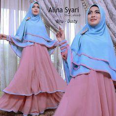 Gamis Syar'i Modern ALINA SYARI DUSTY - http://warongmuslim.com/gamis-syari/gamis-syari-modern-alina-syari-dusty/