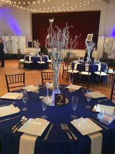 Blue and Silver winter theme to wrap up the 2nd to last wedding of 2015 at the Cuvier Club!