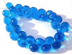 1/2 Strand 16 beads  Apatite Blue Quartz by GemsAndBeadsEmporium, $28.57