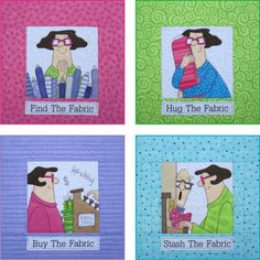 Amy Bradley.. She gets us quilters.. :)