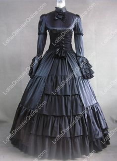 Lolita Dresses, Lolita Gothic Dress, Cheap Lolita Dresses On Sale Victorian Dress Costume, Gothic Victorian Dresses, Costume Dress, Victorian Fashion, Gothic Fashion, Victorian Era, Cosplay Costumes, Medieval Dress, Belle Costume