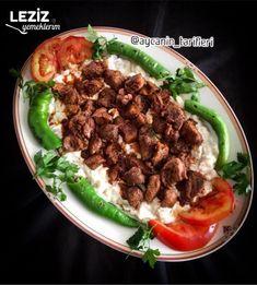 Alinazik (Orijinal Tarif) - Leziz Yemeklerim Salsa, Beef, Food, Meat, Essen, Salsa Music, Meals, Yemek, Eten