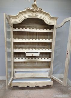 French antique Rococo armoire / fit out for all your beautiful French wines / Frenchfinds.co.uk