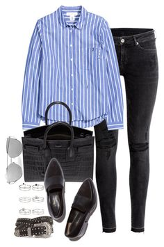 """Untitled #135"" by marinas-clothes ❤ liked on Polyvore featuring H&M, Yves Saint Laurent, 3.1 Phillip Lim and Miss Selfridge"