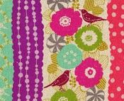 Image detail for -Cockatiel PInk, Echino by Etsuko Furuya, Kokka Designer Fabric
