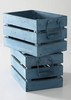this color blue makes old crates even look awesome!