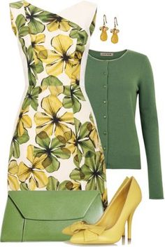 """Printed Dress"" by averbeek on Polyvore"