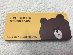 Missha Line Friends Eye Color Studio Mini #Missha