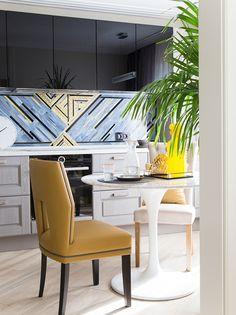 Кухня, Lube. Стул, Rooma Design. Пол – керамогранит, Vallelunga.