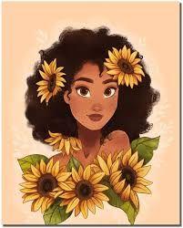 Cartoon Kunst, Cartoon Drawings, Cute Drawings, Black Love Art, Black Girl Art, Black Girls, Bd Art, Black Girl Cartoon, Black Art Pictures