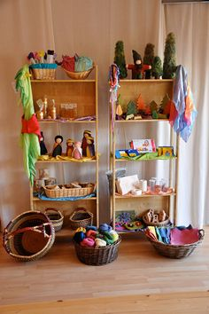 their store has a list of recommended home supplies and reading material for play and crafting Waldorf Playroom, Waldorf Preschool, Waldorf Kindergarten, Waldorf Crafts, Waldorf Toys, Preschool Learning, Preschool Classroom, Learning Spaces, Play Based Learning