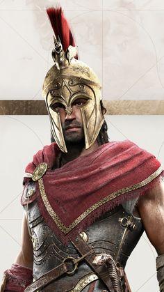 Alexios Assassin's Creed Odyssey HD Mobile Wallpaper. Arte Assassins Creed, Assassins Creed Odyssey, Greek Warrior, Fantasy Warrior, Warrior 1, Spartan Tattoo, Roman Warriors, Spartan Warrior, Warrior Tattoos