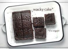 Wheat Free Baking, Wacky Cake, Crazy Cakes, Unsweetened Cocoa, Amazing Cakes, Fudge, Sweet Treats, Yummy Food