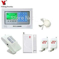 YobangSecurity Burglar Alarm system Security Wireless GSM Autodial Call Home House Intruder Alarm with PIR Motion Door Detector