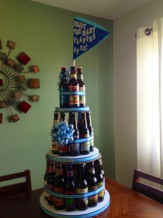 30th birthday beer cake... 30 different craft beers...he loved it!!!