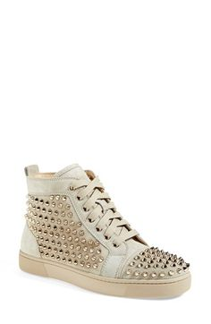 Christian Louboutin 'Louis' Spiked Sneaker available at #Nordstrom