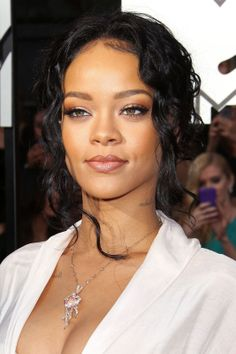 8 Gorgeous Hair-&-Makeup Combos To Steal This Spring #refinery29  http://www.refinery29.com/hair-makeup-combinations#slide10  Rihanna Rihanna sported a soft, sultry, curly updo to the MTV Movie Awards, and with neutral makeup and gorgeous tendrils framing her face, this look was sexy yet romantic, says celebrity stylist and SoftSheen-Carson artistic style director Johnny Wright. To get this 'do, Wright advises using Optimum Amla Legend Enchanted Finish Hold + Polish Spray, a waterless ...