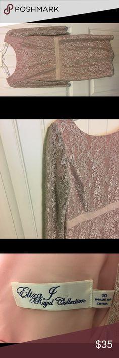 Eliza J party dress Eliza J size 10 party dress. Creamy beige with a pink sparkly undertone to it. Eliza J Dresses