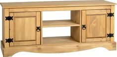 This Acapulco 2 Door 1 Shelf Flat Screen TV Unit in Distressed Waxed Pine is now available from Wrexham Warehouse Furniture.
