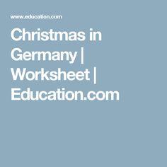 Christmas in Germany   Worksheet   Education.com