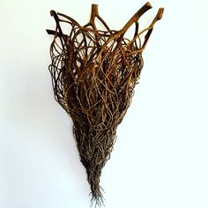 how to do bangalow palm baskets Willow Weaving, Basket Weaving, Hand Weaving, Palm Frond Art, Natural Forms, Woodland Animals, Plant Hanger, My Images, Fiber Art