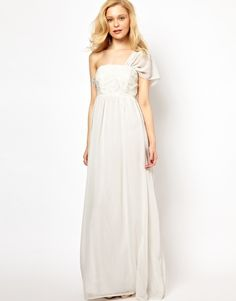 Image 1 ofLydia Bright Maxi Dress with One Shoulder Detail