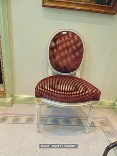 Lot 999 - Louis XVI style single painted chair the round shaped upholstery seat over fluted tapered round