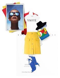 """Color Block..."" by unamiradaatuarmario ❤ liked on Polyvore featuring Balenciaga, N°21, Topshop, Fendi, Zimmermann, Le Specs, colorblock and colorful"