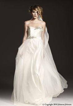 Inspired my wedding dress...  Johanna Johnson - The Vivienne – The Knot