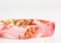 Hey, I found this really awesome Etsy listing at https://www.etsy.com/listing/164154827/resin-bangle-pale-honeysuckle-gold