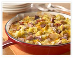 Anytime Ham and Cheese Frittata. Ham and cheese frittata works for weekend breakfast or brunch with muffins and juice Cheese Frittata Recipe, Frittata Recipes, Ham Recipes, Brunch Recipes, Casserole Recipes, Italian Recipes, Breakfast Recipes, Dinner Recipes, Cooking Recipes