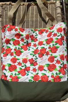Kentucky Derby, Large Tote Bag, Purse, Red Roses, Horses, Shopping Bag 283ec5055c