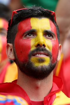 #EURO2016 A fan of Spain looks on prior to the UEFA Euro 2016 Round of 16 match between Italy and Spain at Stade de France on June 27 2016 in Paris France