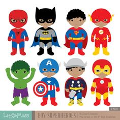 Custom Order African American Boy Superheroes by LittleMoss